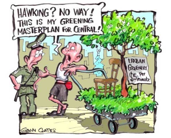 central greening cartoon by gavin coates